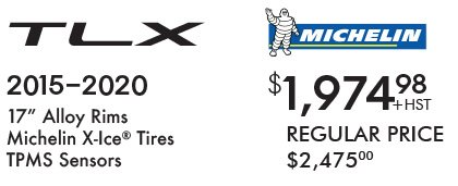 TLX Winter Tires